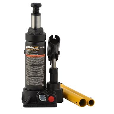 Omega 10025b black hydraulic bottle jack, 2 ton capacity