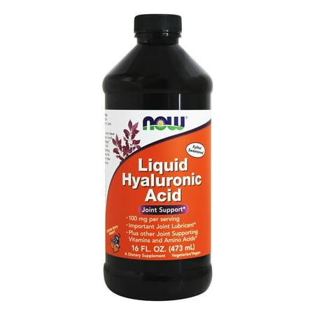 NOW Foods - liquide acide hyaluronique Suractivé Berry Flavor 100 mg. - 16 oz.