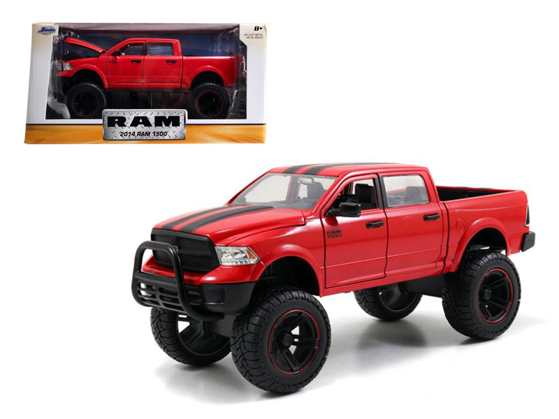 "2014 Dodge Ram 1500 Red Pickup Truck Off Road Just Trucks"" 1 24 Diecast Model by... by Jada"