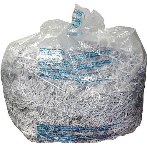 GBC Shredder Bags for GBC 5000, 6000 and 7000 Series Shredders, 40 gal, Clear, 100pk