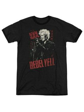 Billy Idol Brick Wall Mens Adult Heather Ringer Shirt