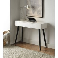 4D Concepts Black & White Console Desk with Drawer