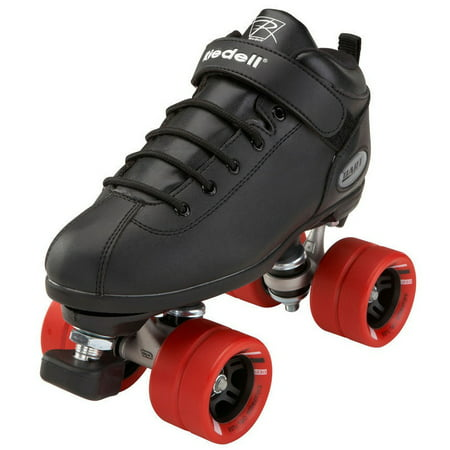 Riedell Carrera Speed Skates (Riedell Dart Black Quad Speed Skates )