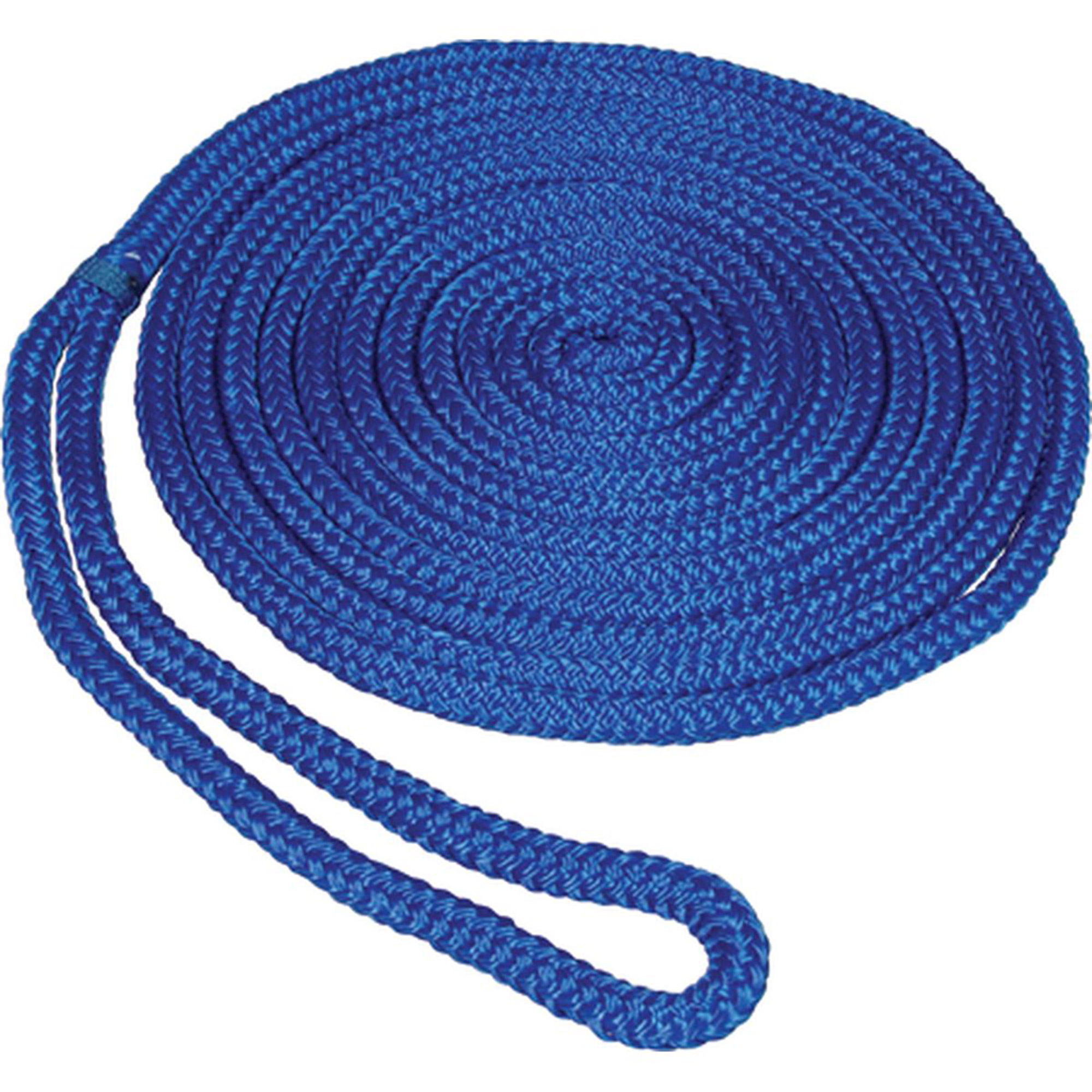 "SeaSense Pre-Spliced Double Braid MFP Dock Line, 1 2"" x 15', 12"" Eye, Blue by Generic"