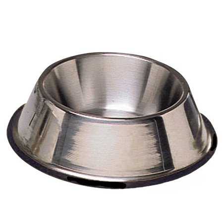 DOG BOWL - No Tip Mirror Finish Super Heavy Duty Rubber Base Dishes for Dogs (16oz (2 cups/473ml) - 1 (Super Heavy Dish)