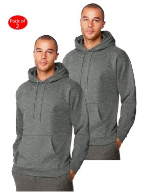 Hanes Mens Ultimate Cotton; Heavyweight Pullover Hoodie, Color: Charcoal Heather, Size: 3XL --- PACK OF 2 (Men's Athleticwear - Original Company Packing)