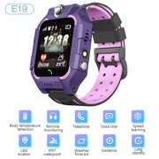 E19 Children's Positioning Watch Intelligent Phone Watch IP67 Waterproof Body Temperature Detection Energy-saving Flashlight