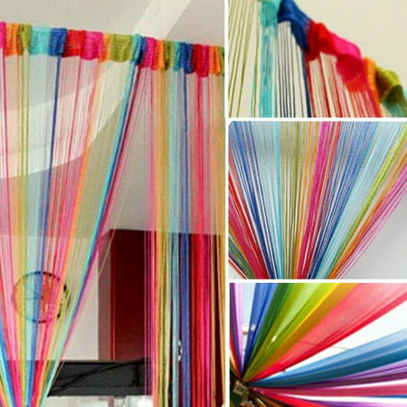 Topumt String Door Curtain Beads Hanging Doorway Home Decor Room Divider