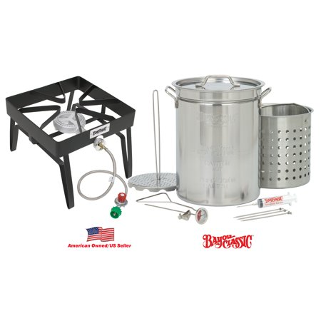 Bayou Classic 9195 Stainless-Steel Outdoor 32-Quart Turkey Fryer Kit
