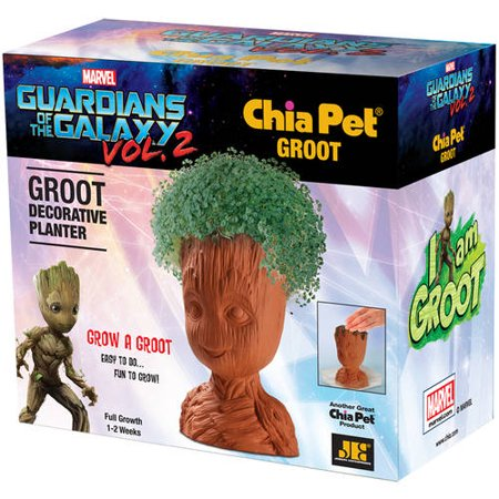 Chia Pet Groot from Guardians of the Galaxy Decorative Pottery Planter, Easy to Do and Fun to Grow, Novelty Gift As Seen on TV