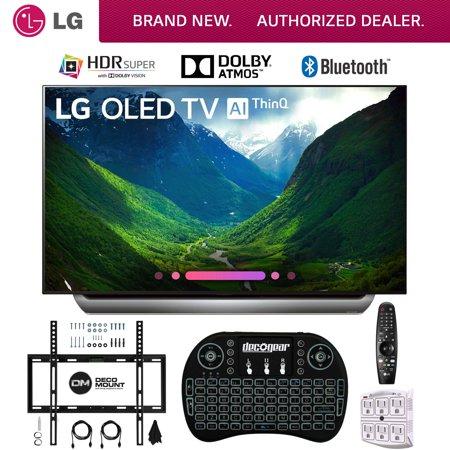 LG C8PUA 65 OLED 4K HDR Ultra HD AI Smart TV with Wireless Keyboard Wall Bracket & HDMI Cables (65C8PUA OLED65C8P OLED65C8)