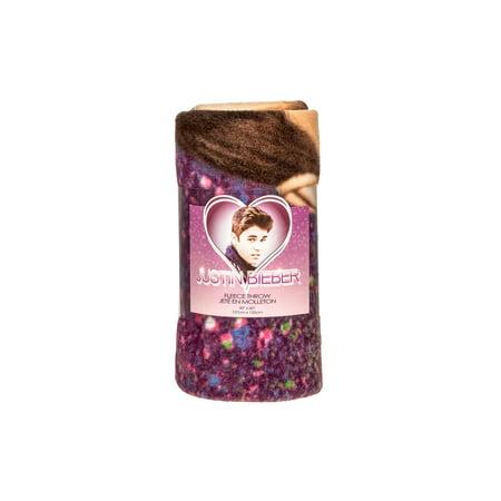 Justin Bieber Fleece Throw Blanket 50 inch x 60 inch - Justin Bieber Fan Halloween Costumes