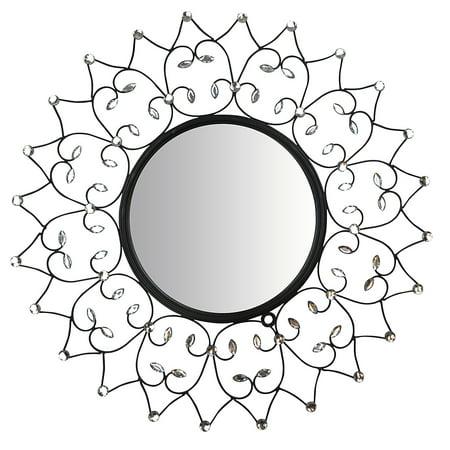 LuLu Decor, Web Wall Mirror, Decorative Metal Wall Mirror, Frame Size - Metal Mirror