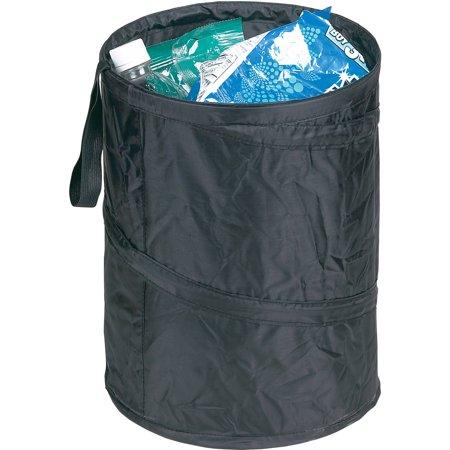 Tall Pop-Up Trash Can, Black