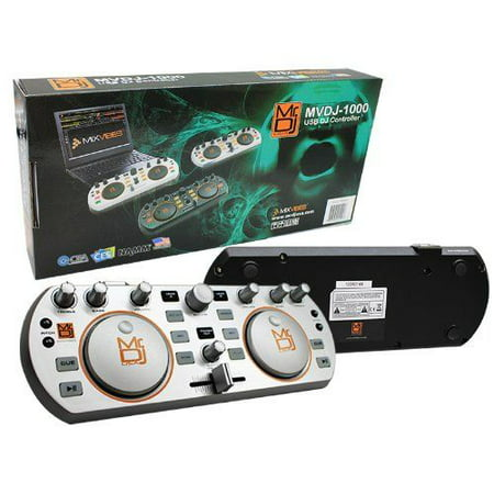 Mr. Dj MVDJ-1000SIUSB Dj Mix Controller with Dual Individual Mixing Channels to Connect a Computer for Audio and