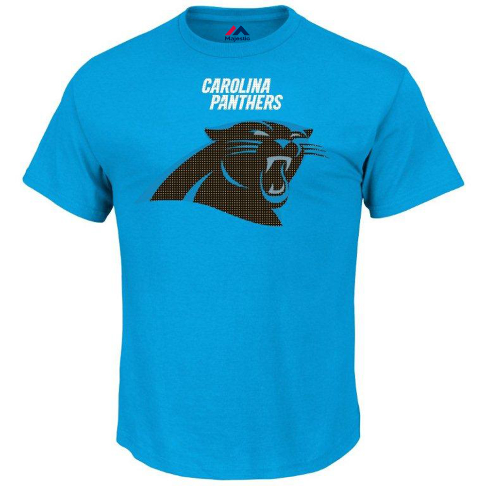 Majestic Mens Carolina Panthers Victory T, Big and Tall