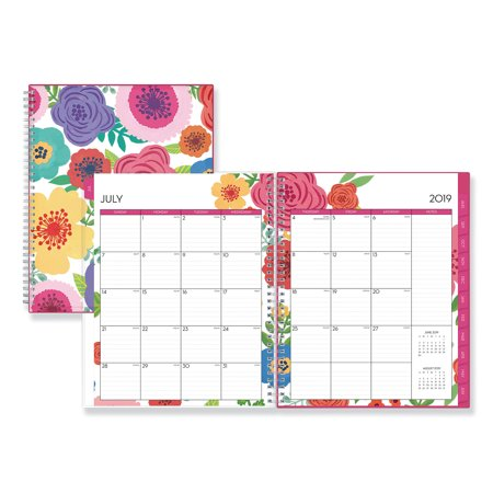 Blue Sky Mahalo Academic Year CYO Weekly/Monthly Planner, 11 x 8 1/2, Tropical Floral, 2019-2020 -BLS100149
