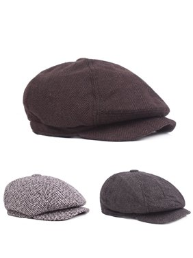 aaf2a557c4a2b Product Image HiCoup Fashion Classic Newsboy Beret Hat Men s Knitted  Outdoor Casual Octagonal Cap