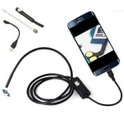 Waterproof HD 2M/7mm Endoscope Lens Mini USB Inspection Camera with 6 LED Lights Borescope for Android Smartphone/PC/Lapt op