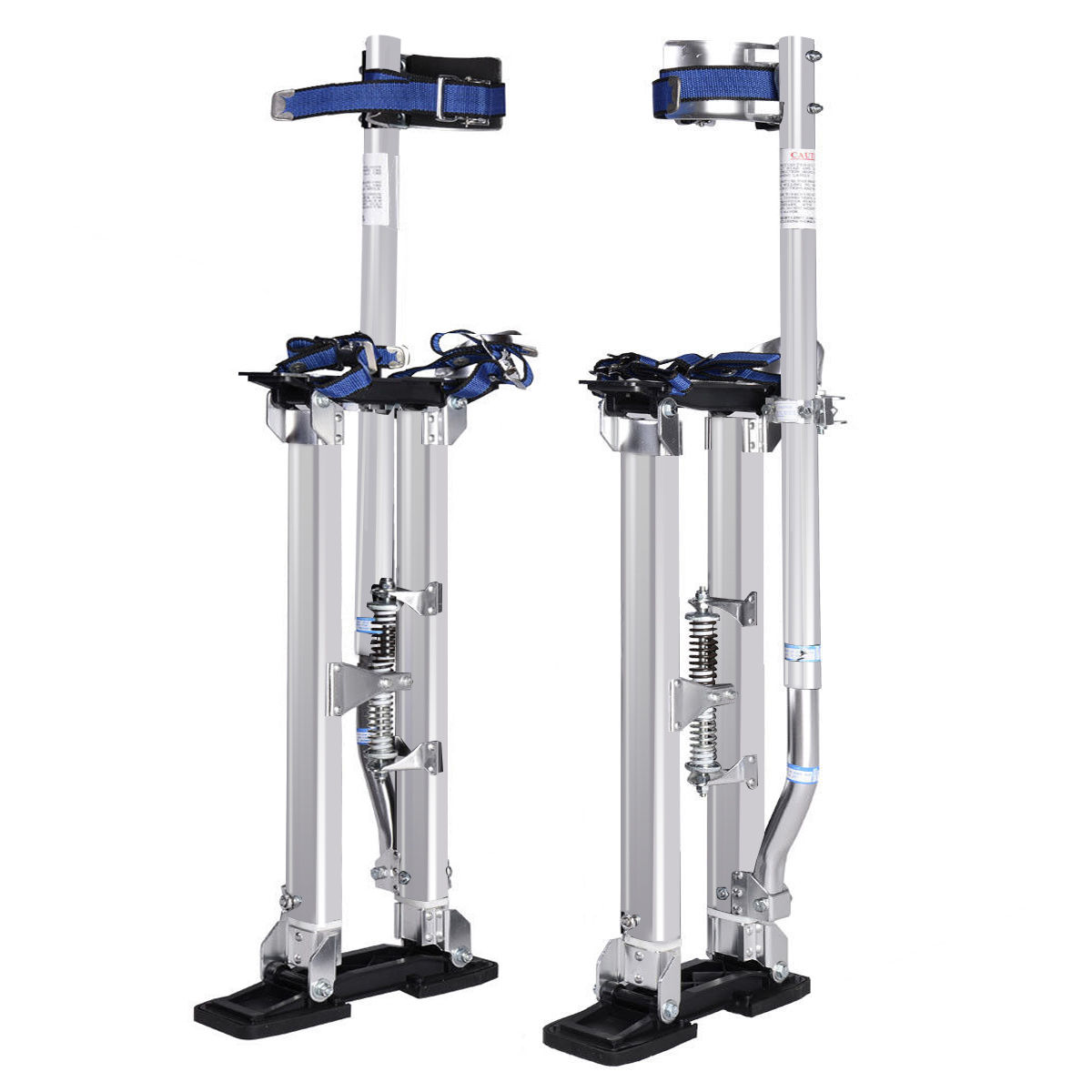 Costway 18-30 Inch Drywall Stilts Aluminum Tool Painters Walking Taping Finishing Silver by Costway