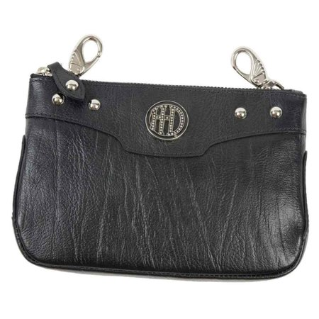 Women's H-D Crystal Studded Hip Bag, Black Leather WW0076L-BLK, Harley -