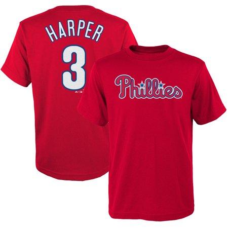 Bryce Harper Philadelphia Phillies Majestic Preschool Name & Number T-Shirt - - Bryce Four