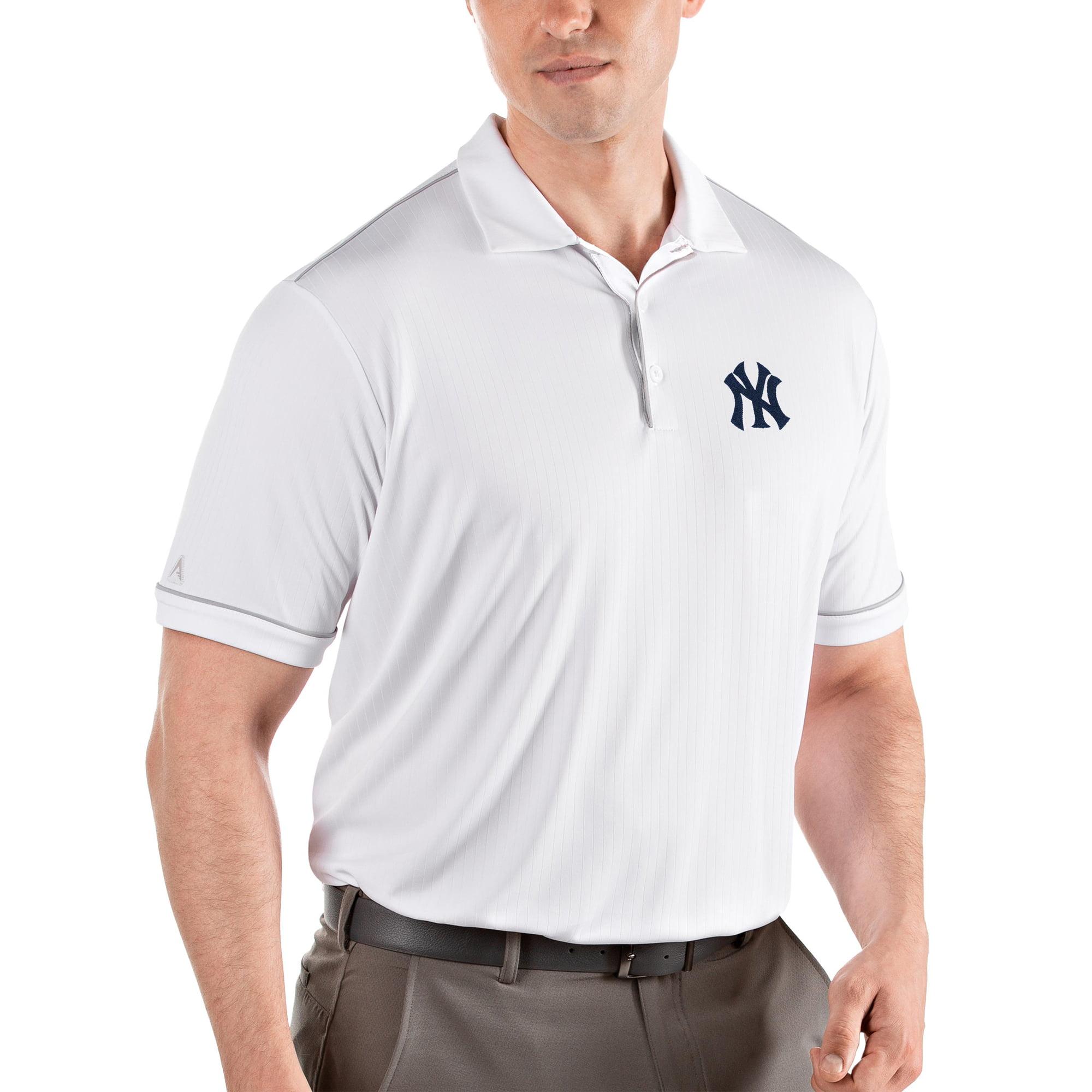 New York Yankees Antigua Salute Polo - White/Gray
