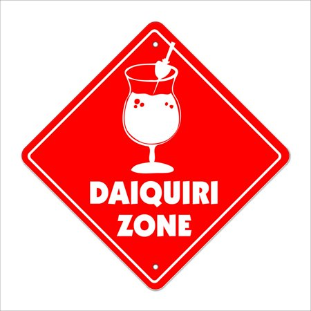 Daiquiri Crossing Sign Zone Xing | Indoor/Outdoor | 14