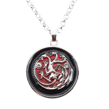 Fancyleo Game of Thrones Targaryen Pendant, khaleesi Necklace, Daenerys Jewelry, Geek Jewelry, Geeky Girl Gift, Nerd Present, Nerdy Birthday Gifts - Gifts For Geeky Girls