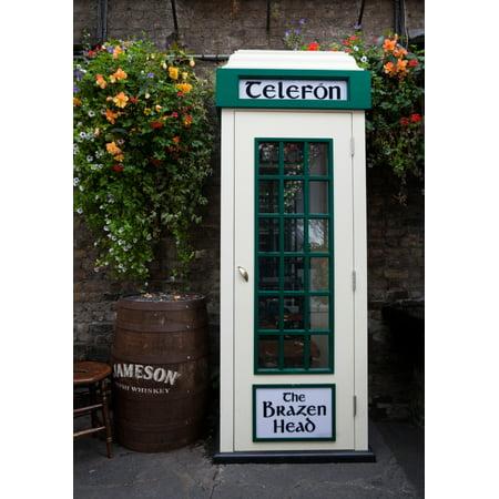 Telephone Kiosk The Brazen Head pub Bridge Street Dublin City Ireland Stretched Canvas - Panoramic Images (24 x (Kiosk Soho)