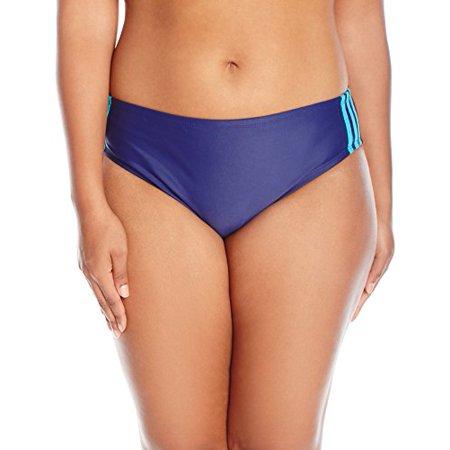adidas Women's Plus Size Light As a Heather Sport Hipster Bikini Bottom, Navy, (Adidas Bikini)