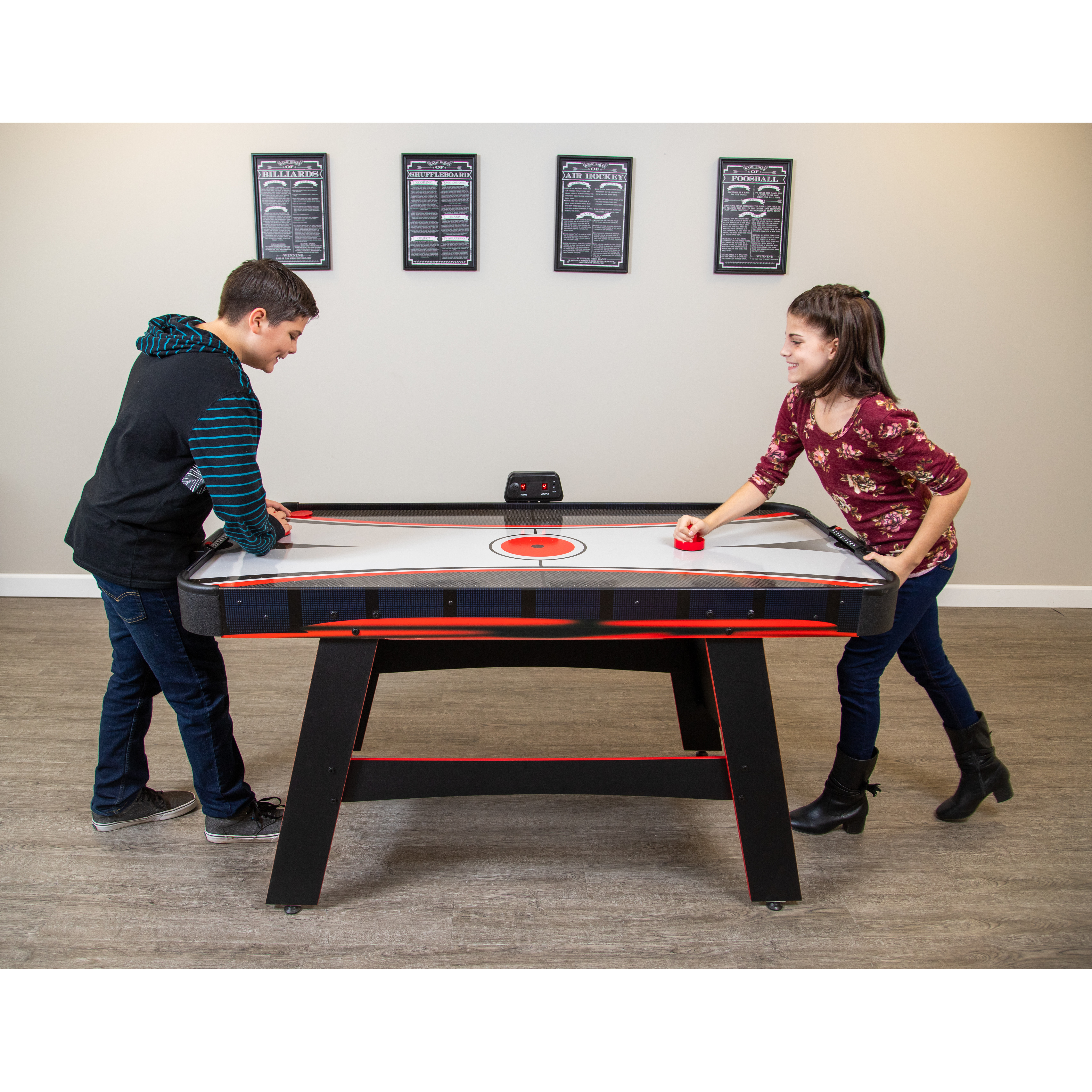 Details About Hathaway 5 Ft Ranger Air Hockey Table With Manual And Electronic Scoring System