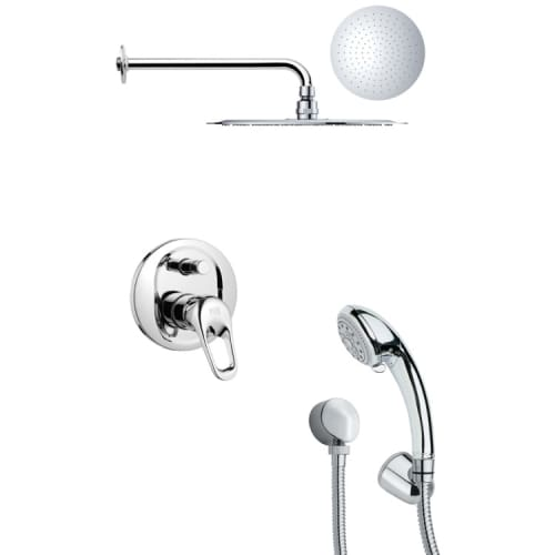 Nameeks SFH6123 Remer 3.3 GPM Round Single Function Rain Shower Head with Hand S