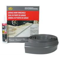 m-d building products 50100 m-d single garage door threshold kit, 10 ft l, vinyl, gray 10',