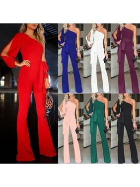 Multitrust Women Jumpsuit Romper Bodycon Playsuit Clubwear Trousers Party Long Dress Pants