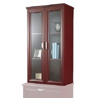Realspace Magellan 2-Shelf Hutch For Lateral File Cabinet (Classic Cherry)