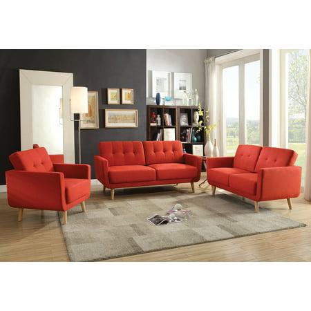 Fine Sofa Red Linen Linen Pine Wood Frame Red Linen Unemploymentrelief Wooden Chair Designs For Living Room Unemploymentrelieforg