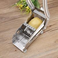 YLSHRF Potato Chipper, Chopper Maker,Stainless Steel French Fry Cutter Potato Vegetable Slicer Chopper Dicer 2 Blades