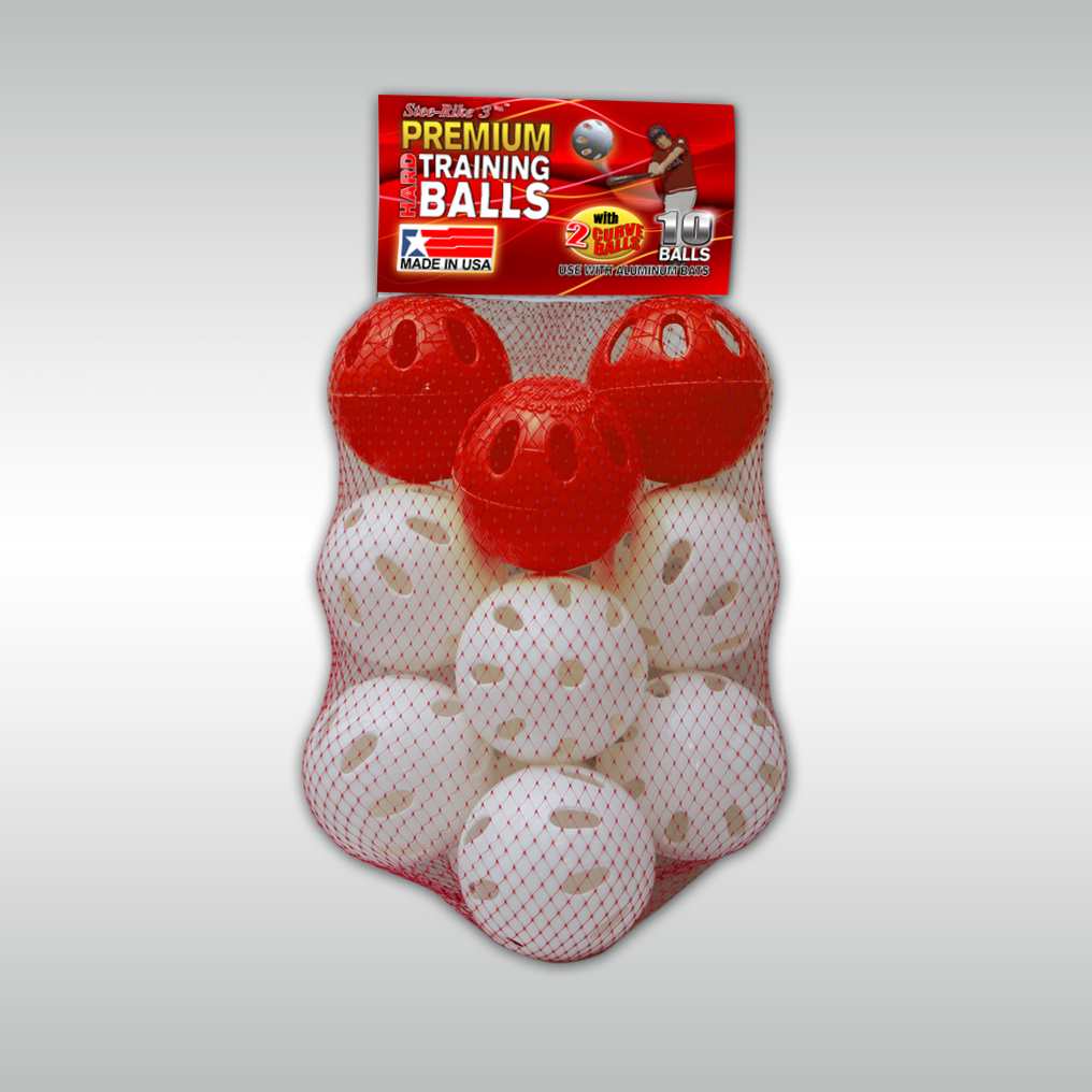 Stee-Rike 3 Premium Baseball Training Balls, 10 Pack