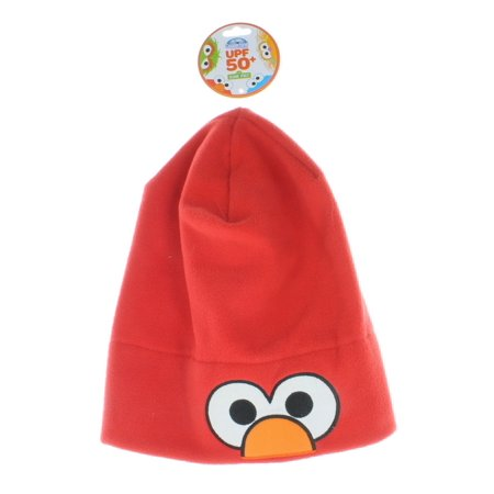 Sesame Street Elmo Winter Hat Coppertone UPF 50+ UV Fleece Headwear One Size - Life Size Elmo