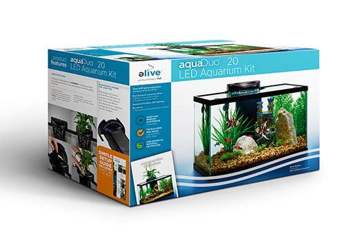 AquaDuo 20 Gallon LED Aquarium Kit by Elive