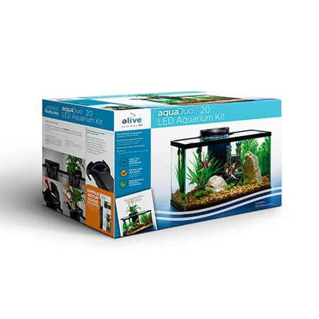 Aquaduo 20 gallon led aquarium kit for 20 gallon fish tank kit