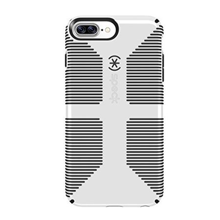 reputable site 9656e 76334 Speck CandyShell Grip Case for iPhone 6 Plus, iPhone 6s Plus, iPhone 7  Plus, and iPhone 8 Plus, White/Gray