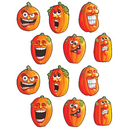 Set Of Wacky Jack-O-Lantern Halloween Themed Sticker - Themed Halloween Party Ideas