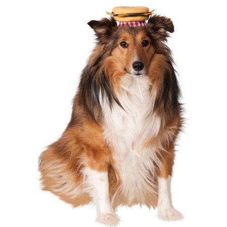 Pet Cheeseburger Hat Funny Cute Dog Cat Costume Halloween Fancy Dress