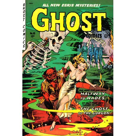 Ghost Comics No 10 Pulp Book Cover Canvas Art - (18 x 24)