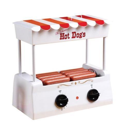 Nostalgia Electrics Old Fashioned Hot Dog Roller White  Red