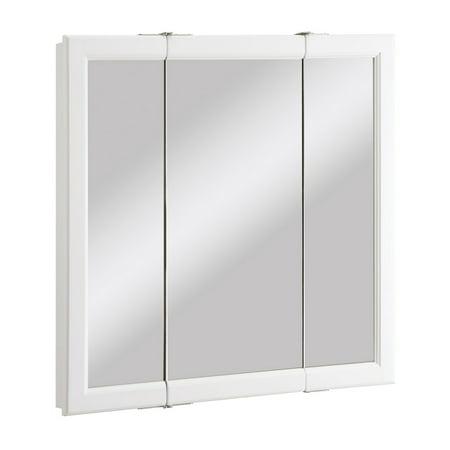 Design House 545293 Wyndham Tri View Medicine Cabinet Mirror 30 White