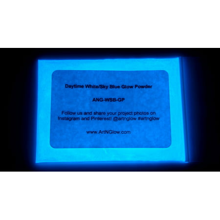 Blue Glow Paint (Art 'N Glow 1 Ounce Glow In The Dark Pigment Powder - Variety of Color Options)