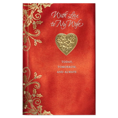 american greetings today tomorrow always christmas card for wife with glitter